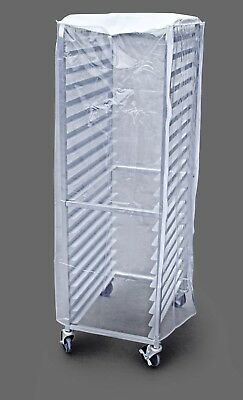 Commercial Sheet Pan Rack Cover PVC 20 Tier 28 x 23 x 61 inch Clear Plastic New