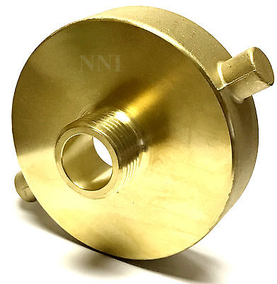 "NNI Fire Hydrant Adapter 2-1/2"" Female NST-NH x 3/4"" Male GHT Garden Hose"
