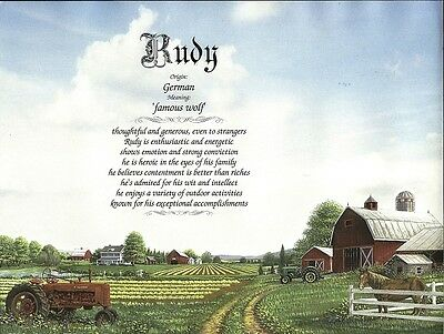 Farm Personalized Name Meaning Ready to Frame Print Birthday Baby Shower Gift
