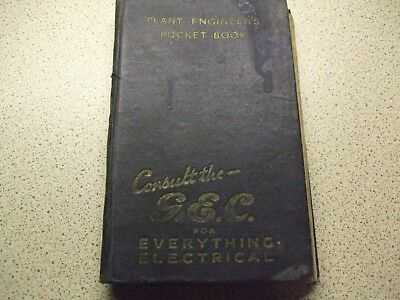 Vintage Plant Engineers Pocket Book By E. Molly. 1945