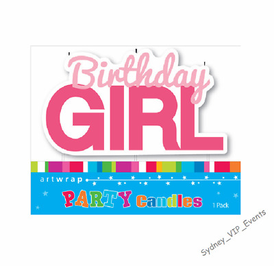 Cake Candle Birthday Girl Pink Party Supplies Cake Topper Decoration Large New