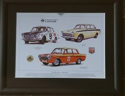 A3 size Lotus GT Alan Mann Racing Art Print SPORTING FORDS CORTINA Mk I