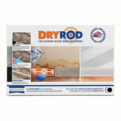 Dryrod Damp Proofing Rods Box of 10 Next Generation Rising Damp Treatment BBA