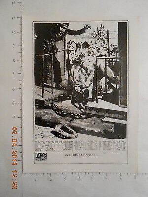 1973 Led Zeppelin Houses of the Holy record release Atlantic AD Railroad railway