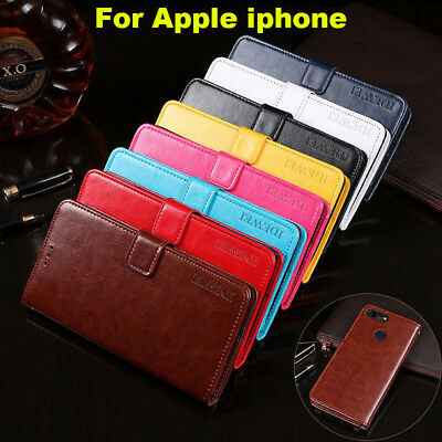 Flip PU Leather Wallet Phone Cover Case For Apple iPhone 5 5C 5S 6 6S 7 8 Plus
