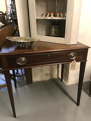 Antique Georgian Mahogany Console Table Writing Table Desk