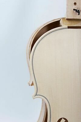 Unfinished White Violin Project, Unglued Top, Hand Made, 4/4 Full Size