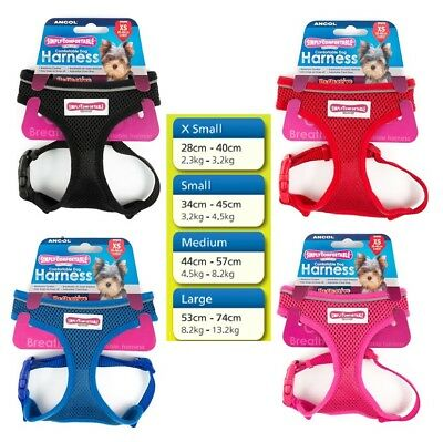 Ancol Comfort Soft Mesh Padded Adjustable Dog Puppy Harness Various Colours