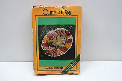 Vintage CURRENT Garnishing Tool Kit & Instruction Book By Miriam B. Loo 1983