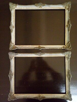 2x Frame antique - ornate classic baroque - Vintage retro wood - painting - old