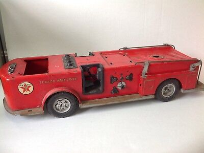 Vintage 1960s Buddy L Texaco Fire Chief Toy Truck Metal Parts or Restoration