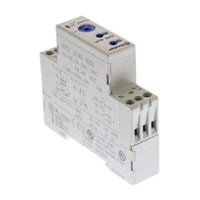 1 x Finder Multi Function Time Delay Relay 24-240V ac, 24-48V dc, SPDT 1 Contact