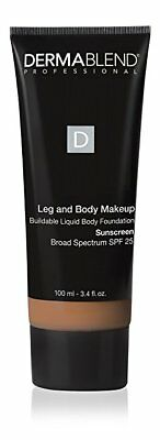 DermaBlend Leg & Body Liquid Makeup Foundation SPF 25, Medium Bronze 3.4 fl oz