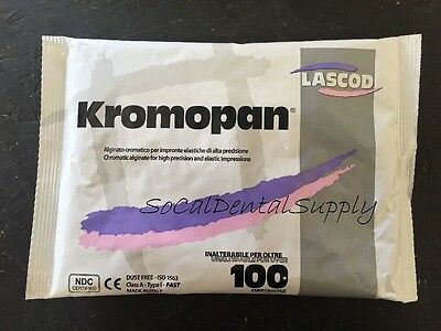 Chromatic Alginate Lascod Kromopan Dental Impression Material Fast Set 1 lb.