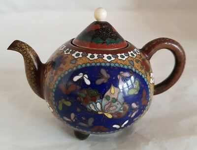A Japanese Cloisonné vase novelty miniature tea pot.  Meiji Period c1890
