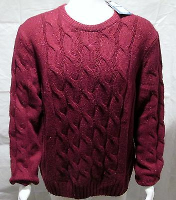 Nautica Acrylic Cable Knit Dark Teal Sweater Sizes M,L,XL and XXL NWT Retail $98
