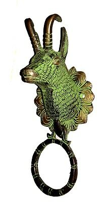 Antique finish Vintage style Brass made Bighorn sheep designed DOOR KNOCKER