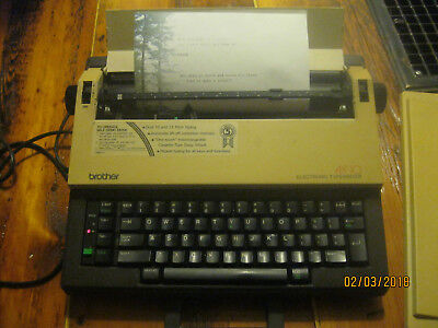 Brother Electric Typewriter  AX-10 Dual 10 and 12 Pitch Type with supplies
