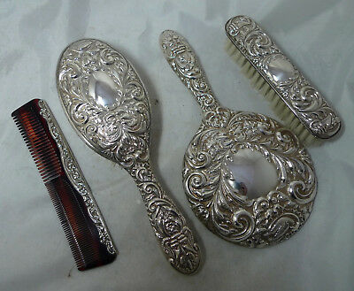 Vintage Silver Dressing Table Set Broadway Birmingham 1987 A642417
