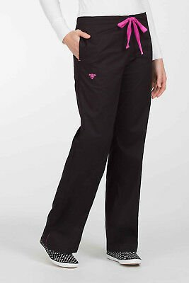 New Med Couture Women's 8705 Drawstring/Elastic Scrub Pant