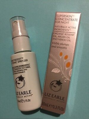 LIZ EARLE SUPERSKIN CONCENTRATE FOR NIGHT 10ml BOXED & INSTANT BOOST TONIC SPRIT
