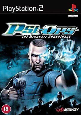 PSI OPS THE MID GATE CONSPIRACY. Sony Playstation 2 PS2 Game PAL + Booklet