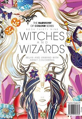 Harmony of Colour: Book 39 WITCHES AND WIZARDS Adult Colouring 36 Designs -NEW