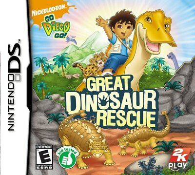 GREAT DINOSAUR RESCUE Nintendo DS Game + Booklet