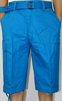 2f7e32f9f7 Nwt Men's Regal Wear Cargo Shorts W/ Belt Cotton Twill 13 Color Size 32-
