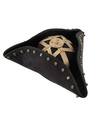 Pirate Hat Disney Licensed Pirates Of The Caribbean Blackbeard Deluxe Black Hat