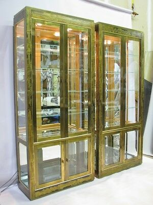 exterior display cabinets quilt display stunning pair mastercraft etched illuminated display cabinets bernhard rohne mastercraft hollywood regency modern style brass exterior lighted