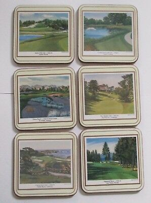 Set of 6 Pimpernel Coasters USA Golf Course Holes