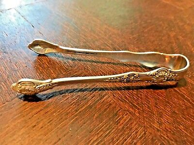 Tiffany Sterling, small sugar tongs, English King pattern,1885, excellent cond.