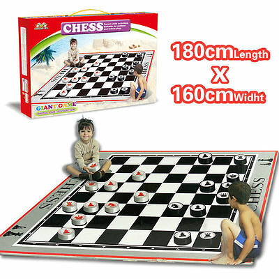 Baby Toddler Kid Family Chess Game Set Pretend Play Crawl Mat Activity Floor Toy