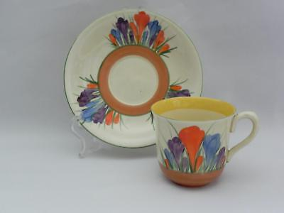VINTAGE-Early CLARICE CLIFF - Demitasse Cup and Saucer *CROCUS* pattern -Mint