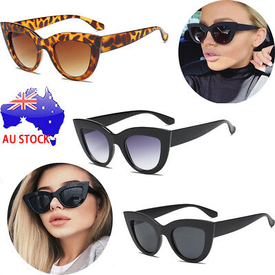 Luxury Ladies Womens Oversized Cat Eye Sunglasses Vintage Style Retro Shades S4