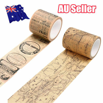 Vintage Map Washi Tape Paper Sticky Adhesive Sticker Paper Decorative DIY S4