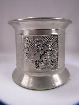 Vintage Candle Holder Daalderop Royal Holland KMD Pewter Dancing Couple