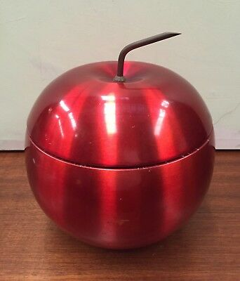 VINTAGE A DAYDREAM PRODUCTION RED APPLE ICE BUCKET ANODISED AUST. MADE Retro