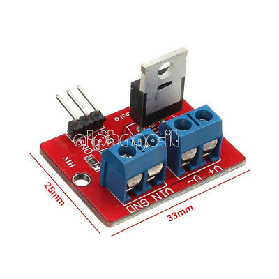 2/5/10PCS IRF520 MOSF Button MOSFET Driver Module for Arduino ARM Raspberry pi