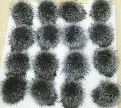 Faux Raccoon Fake Fur Hair Huge Ball Fluffy Pompom Hat Bag Shoses Accessory Gift