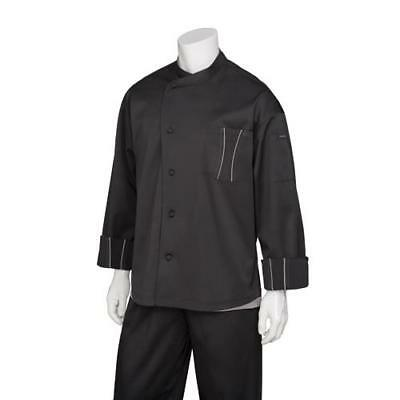 Chef Works Amalfi Chef Coat Jacket - White & Black - All Sizes - Cool Vent