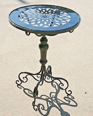 French or Hamptons style  BLACK COFFEE SIDE ACCENT TABLE      NEW