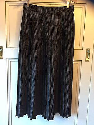 Vintage Ashley Taylor Size 14 ( Size 10?) Brown Pleated Maxi Skirt (waist 70cm)
