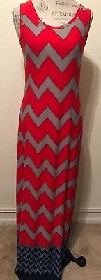 28bd212f7c5 Nine West Womens Jersey Sleeveless Printed Full-Length Maxi Dress Size  Small S