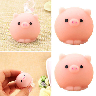 2Pcs Soft Pig Ball Squishy Healing Squeeze Fun Kid Toys Stress Reliever D lips