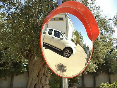 Security Curved Convex Road Mirror Wide Angle Traffic Driveway Safety 60cm