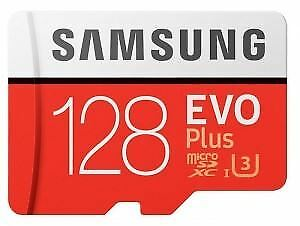 Samsung EVO Plus 128GB Micro SD SDXC UHS-I U3 Card with Adapter