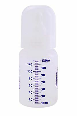 Sterifeed Disp. Sterile Baby Bottle, with Std Teat and Cap, 130ml, Pack of 10