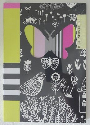 Designers Guild Boqueria Noir A5 Layflat Journal 128 Ruled Pages Notebook